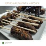 Receta de Brochetas de Plátano al Chocolate